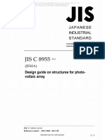 JIS C 8955 Design Guide on Structures for Photovoltaic Array