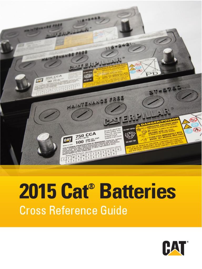 MANUAL BATERIA CATERPILLAR.pdf | Energy Storage | Galvanic Cells on