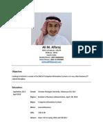 CV Ali Alfaraj
