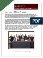 university affiliates program - 2018