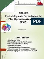 METODOLOGIA PARA FORMULACION DEL POA MUNICIPAL
