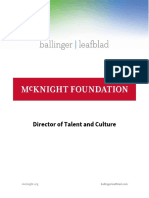 Position Profile - McKnight Foundation - Director of Talent and Culture
