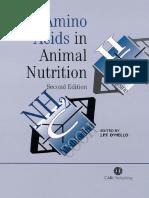 Amino Acids in Animal Nutrition e Book