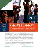Chair's Summary From World Humanitarian Summit 2016