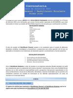 Convocatoria Bachillerato 1er Nivel Gral Bivalente 2019