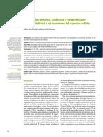 Contribución genética, ambiental y epigenética en la susceptibilidad a los trastornos del espectro autista