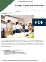 16-01-2019 Héctor Astudillo entregainfraestructura educativa en Guerrero.