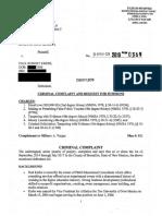 Criminal complaint filed against Paul Krebs