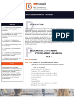 Formation Ethereum BitConseil - Syllabus
