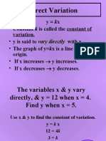 (1.4), (9.1) Direct and Inverse Variation