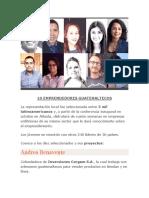 10 EMPRENDEDORES GUATEMALTECOS
