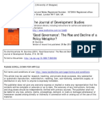713601084] Doornbos, M. -- 'Good Governance'- The Rise and Decline of a Policy Metaphor