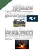 Características Culturales de Los Mayas