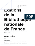 Raison et foi - Averroès - Éditions de la Bibliothèque nationale de France