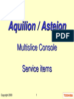 Asteion aquilion Console Service 8