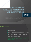Jeevesh Union Budget[1]