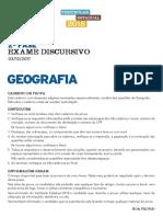 Prova 2018 - UERJ - Geografia