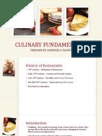 1st Lecture Culinary Fundamentals
