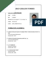 Cv. Pablo Giraldo Torres 1