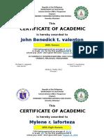 Certificate 2018 2019