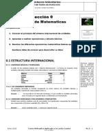 Plan de Leccion 0 Repaso de Matematicas