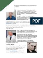 Cientificos y Cientificas Que Han Aportado a Los Conocimientos de La Ciencia en Guatemala