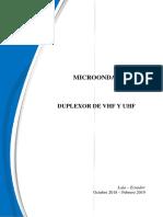 Informe Duplexor