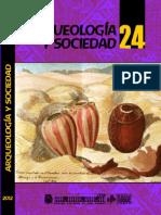 ARQUEOLOGIA Y SOCIEDAD N° 24