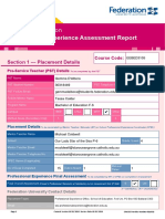 form a professional experience assessment report - gemma dalbora f