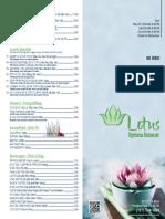 Lotus Vegetarian Restaurant Menu PDF