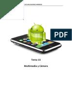 Tema 15. Multimedia y Camara
