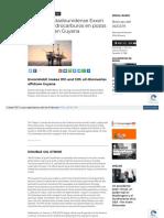 noticia  Petrolera Estadounidense Exxon Descubre