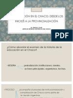 La Educación en El Chaco