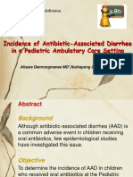 Incidence of Antibiotic-Associated Diarrheain a Pediatric Ambulatory Care Setting