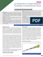 Análise por elementos finitos distribuição de tensão em implante dentário