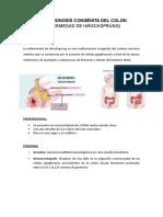 Aganglionosis Congénita Del Colon
