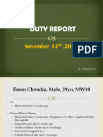 Duty Report, Emon chendra (dr. Rudi).pptx