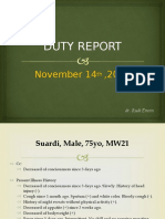 Duty Report, Suardi (dr. Rudi).pptx