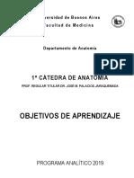 Programa 2019 Anatomia