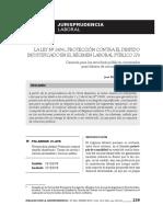 Ley 24041 - Protección Contra El Despido Injustificado en El d. Leg. 276 - Autor José María Pacori Cari