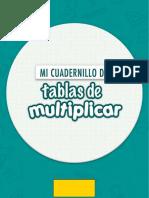 Cuadernillo de tablas de multiplicar