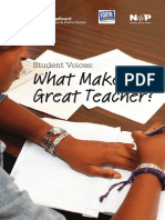 What makes a great teacher!