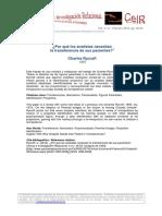 04 CRycroft Por Que Los Analistas Necesitan La Transferencia 2010 CeIR V4N1