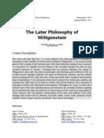 Late Wittgenstein Seminar 2015
