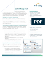 Workday Human Capital Management Datasheet