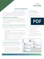 Workday Human Capital Management Datasheet