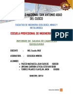 Salida de Campo Quiquijana 2017 - II PACCO  M. JEAN C.