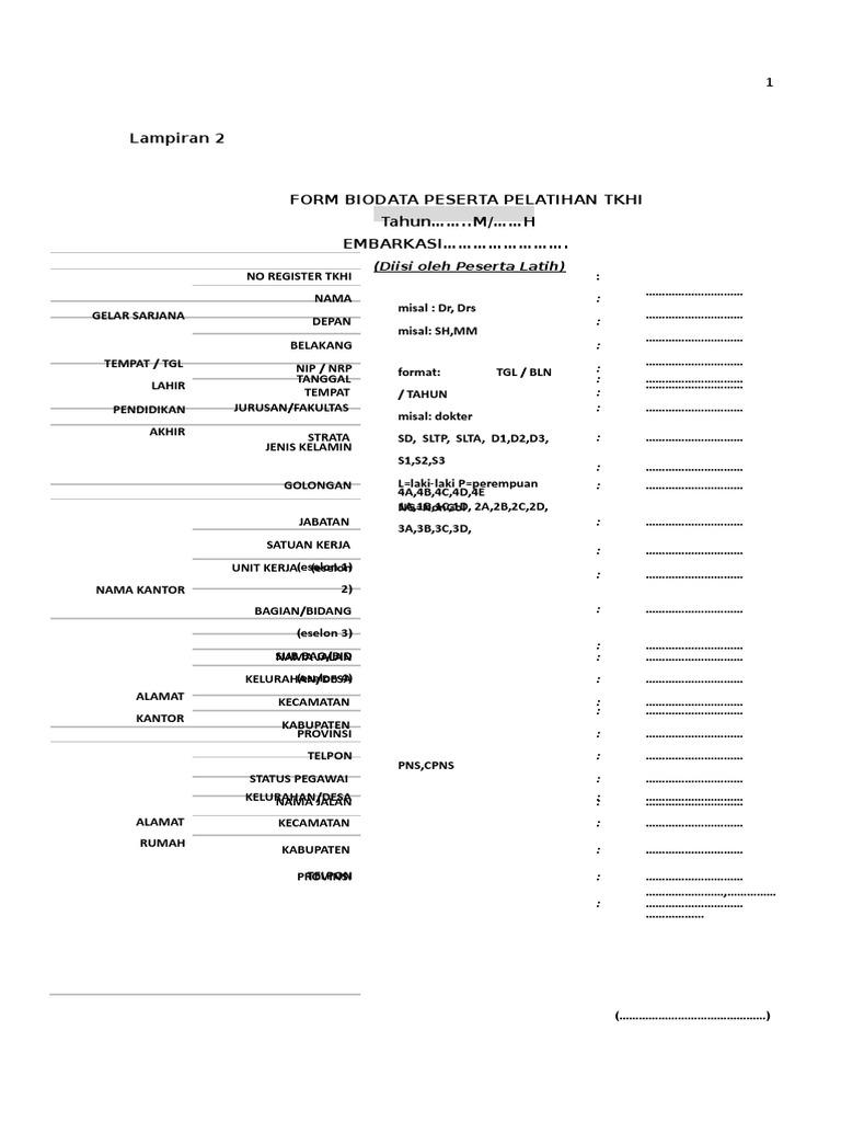 4 Form Biodata 2019