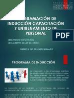 Programación de Inducción Capacitación y Entrenamiento de Personal