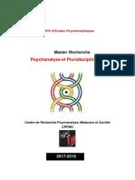 Brochure M2R Psychologie 2017 2018